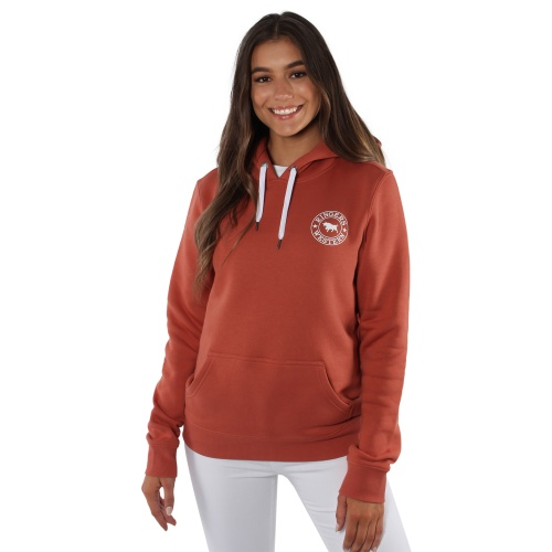 219204021-rsr_wht-signature_bull_womens_pullover_hoodie_-_rusty_rose_with_white_print-2